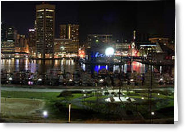 Baltimore Nights Greeting Card by Brent L Ander