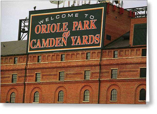 Baltimore Orioles Park At Camden Yards Greeting Card