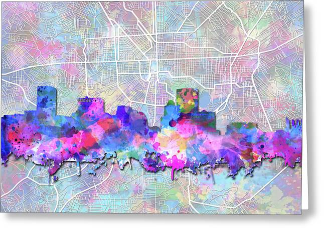 Baltimore Skyline Watercolor 6 Greeting Card
