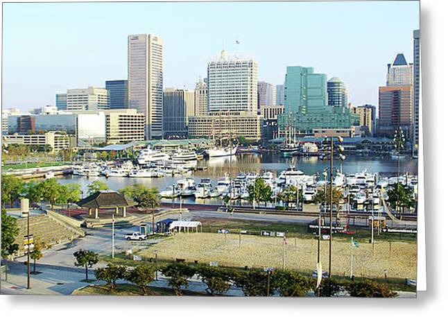 Greeting Card featuring the photograph Baltimore's Inner Harbor by Brian Wallace