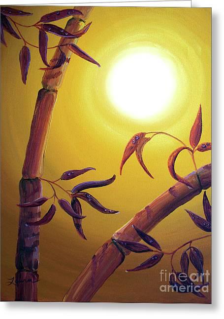 Bamboo After A Light Rain Greeting Card