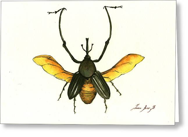 Bamboo Beetle Greeting Card