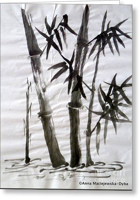 Bamboo Grove 6 Greeting Card by Anna Folkartanna Maciejewska-Dyba