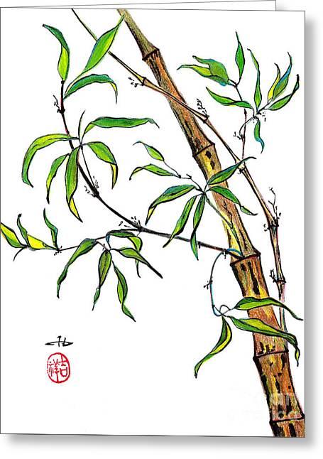 Bamboo Greeting Card by Irina Davis