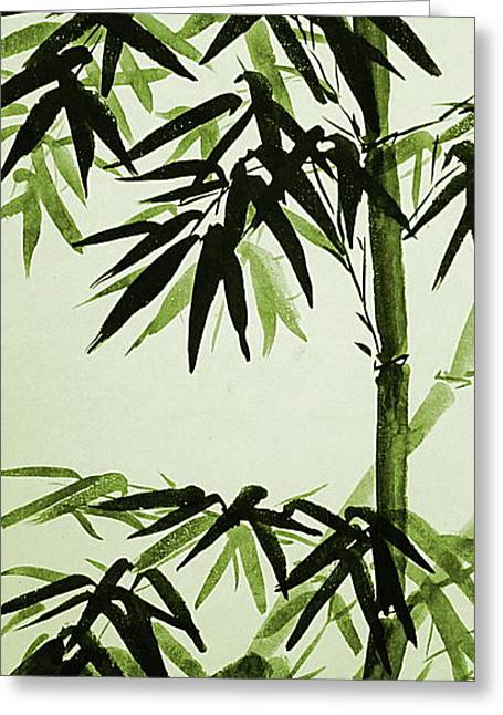 Bamboo - Olive Green Greeting Card