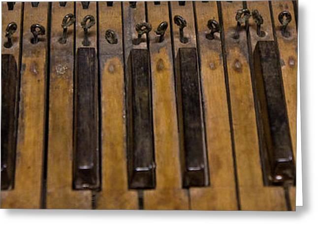 Bamboo Organ Keys Greeting Card by Betsy Knapp