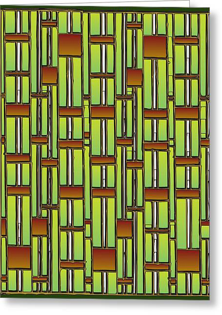 Bamboo Overdose  Greeting Card by Marta Podkul