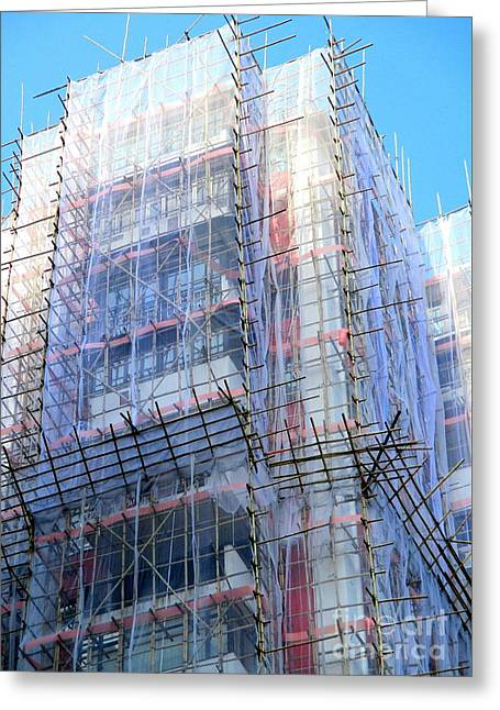 Bamboo Scaffolding 4 Greeting Card by Randall Weidner