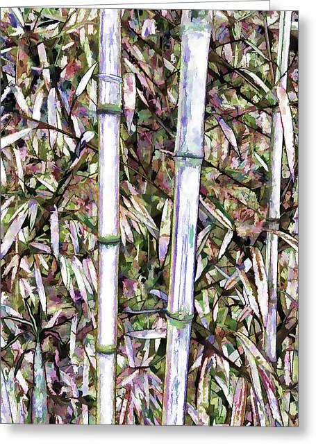 Bamboo Stalks Greeting Card by Lanjee Chee