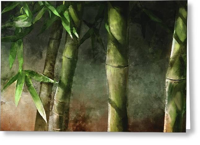 Bamboo Stalks Greeting Card