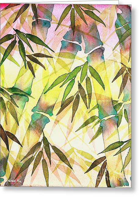 Bamboo Sunrise Greeting Card