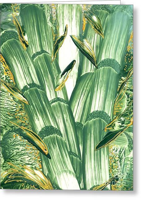 Bamboo Treasure Greeting Card by Heather Hennick