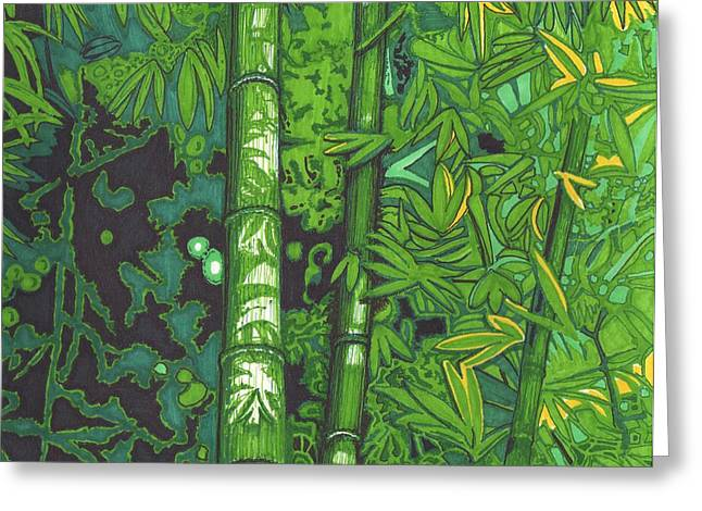 Bamboo Greeting Card by Will Stevenson