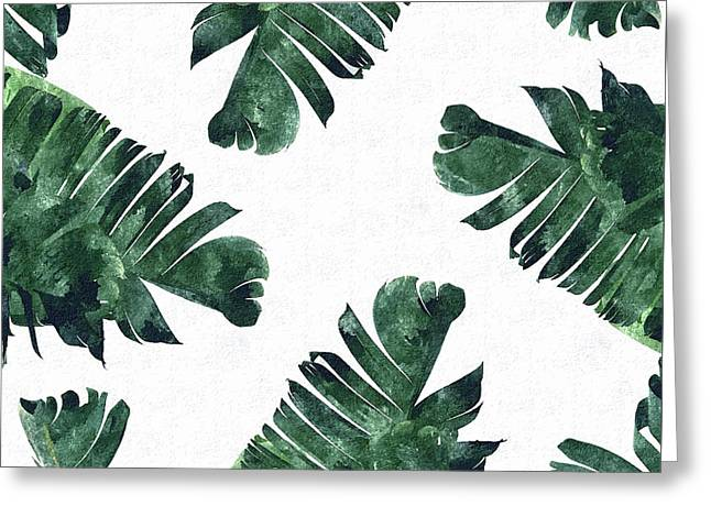Banan Leaf Watercolor Greeting Card by Uma Gokhale