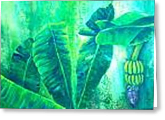 Banan Leaves 5 Greeting Card by Carol P Kingsley