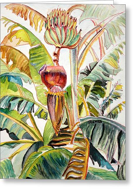 Banana Bloom Greeting Card