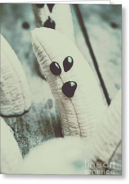 Banana Halloween Ghosts Greeting Card