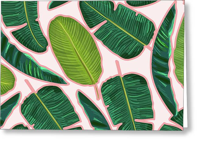 Banana Leaf Blush Greeting Card