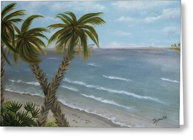 Greeting Card featuring the painting Banana River by Dawn Harrell