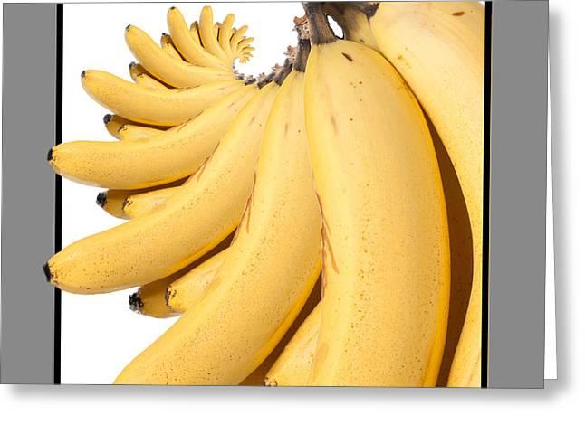 Banana Spiral Greeting Card by Vivian Frerichs