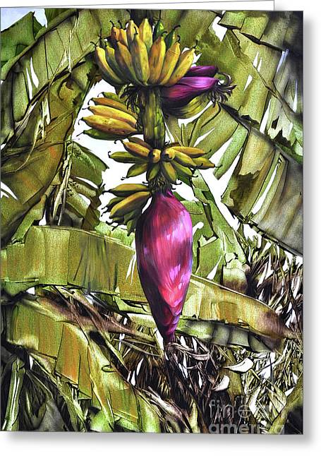 Greeting Card featuring the painting Banana Tree No.2 by Chonkhet Phanwichien