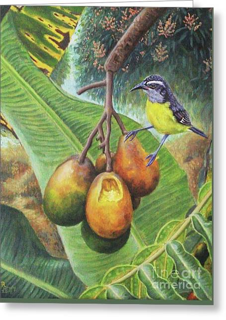 Bananaquit Breakfast Greeting Card