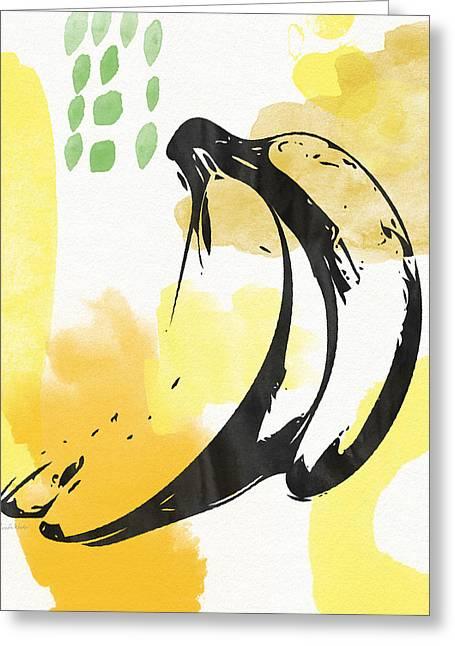 Bananas- Art By Linda Woods Greeting Card
