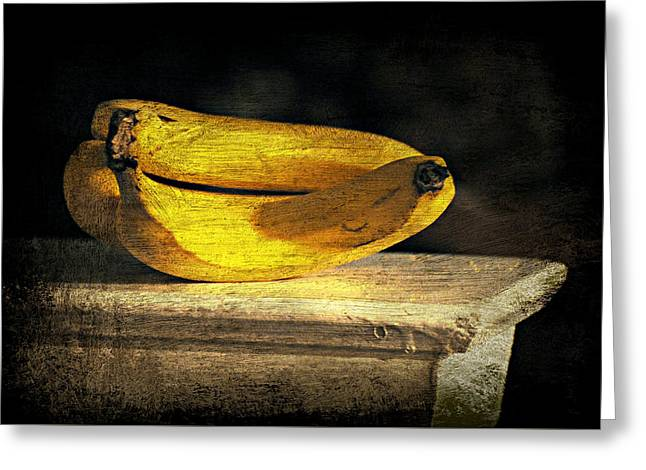 Greeting Card featuring the photograph Bananas Pedestal by Diana Angstadt