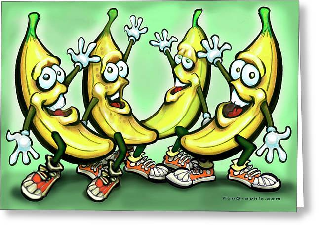 Bananas Greeting Card by Kevin Middleton