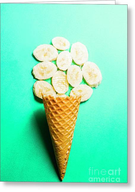 Bananas Over Sorbet Greeting Card by Jorgo Photography - Wall Art Gallery