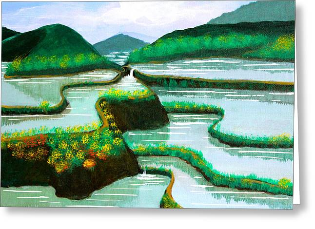 Banaue Greeting Card by Cyril Maza