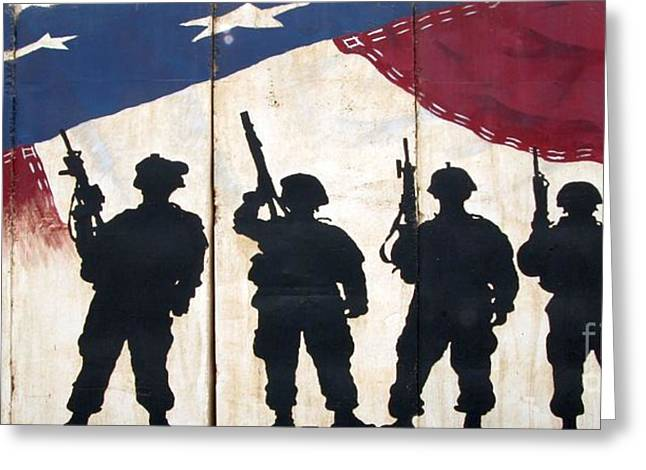 Band Of Brothers - Operation Iraqi Freedom Greeting Card by Unknown