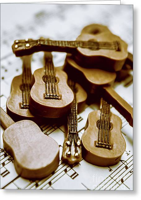 Band Of Live Acoustic Guitars Greeting Card