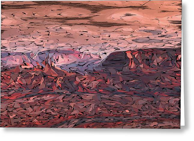 Banded Canyon Abstract Greeting Card