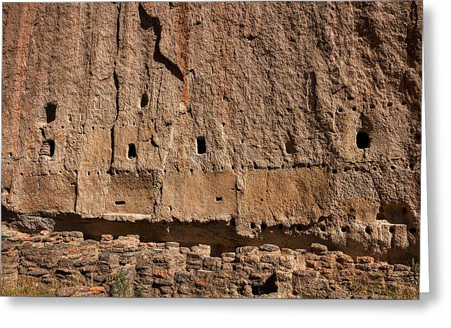 Bandelier Cliff Dwellings Greeting Card by Stuart Litoff
