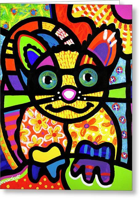 Bandit The Lemur Cat Greeting Card