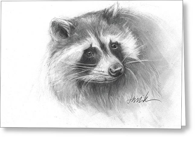 Bandit The Raccoon Greeting Card