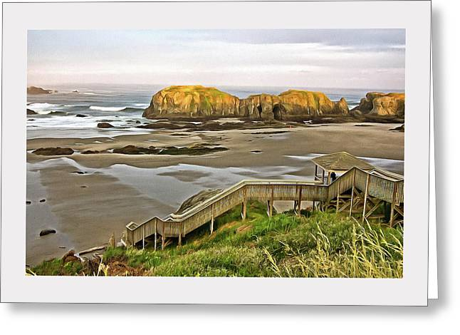 Bandon Beach Stairway Greeting Card
