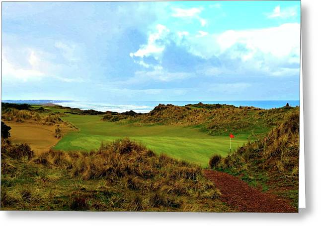 Bandon Dunes - 5th Green Greeting Card by Scott Carda