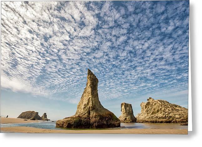 Bandon Sea Stacks Greeting Card