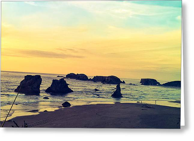 Bandon Seastacks Greeting Card