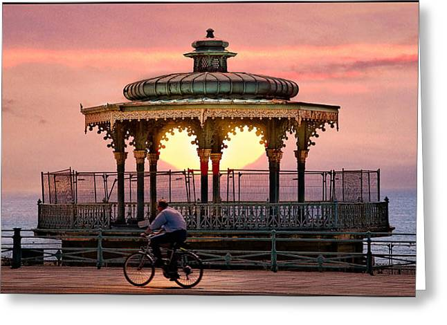 Bandstand Greeting Card by Chris Lord