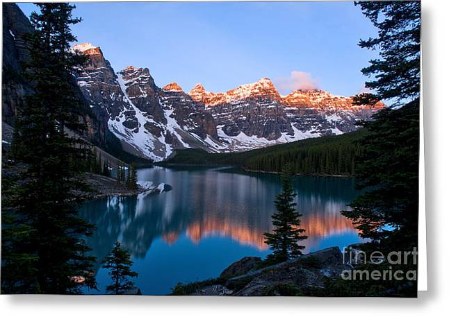 Banff - Moraine Lake Sunrise Greeting Card