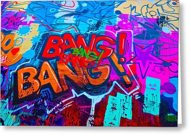 Bang Graffiti Nyc 2014 Greeting Card