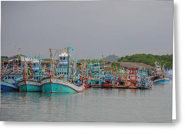Bang Pu Fishing Village Greeting Card by Megan Martens