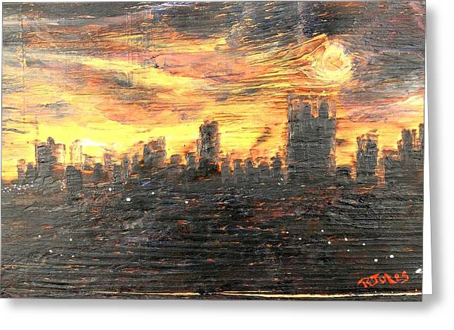 Bangkok City Sunset Glow Greeting Card