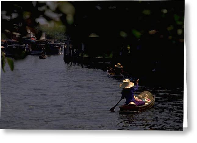 Bangkok Floating Market Greeting Card