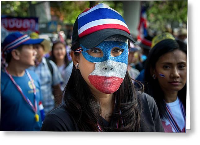 Bangkok Shutdown Greeting Card