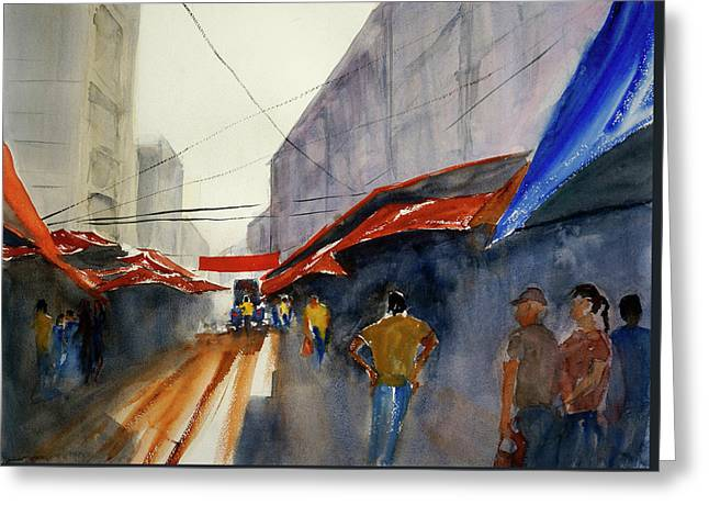 Bangkok Street Market2 Greeting Card by Tom Simmons