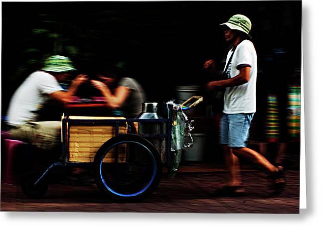Bangkok. Street Seller Greeting Card by Alex Volgin